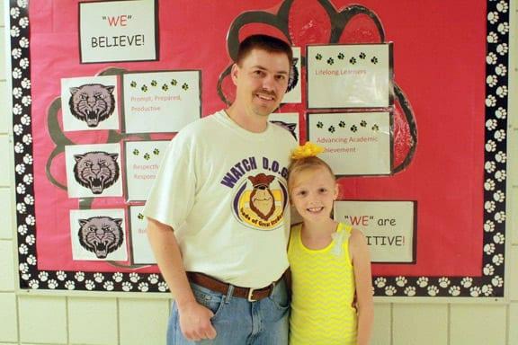 Mr. Rex Dollar, father of third grader Addi Dollar from Holly Harshman Elementary School for served as a Watch DOG dad.