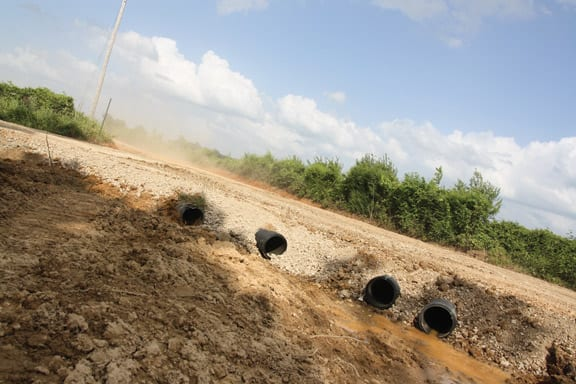 New culverts have successfully been installed at the intersection of County Roads 52 and 44 that will significantly improve drainage.