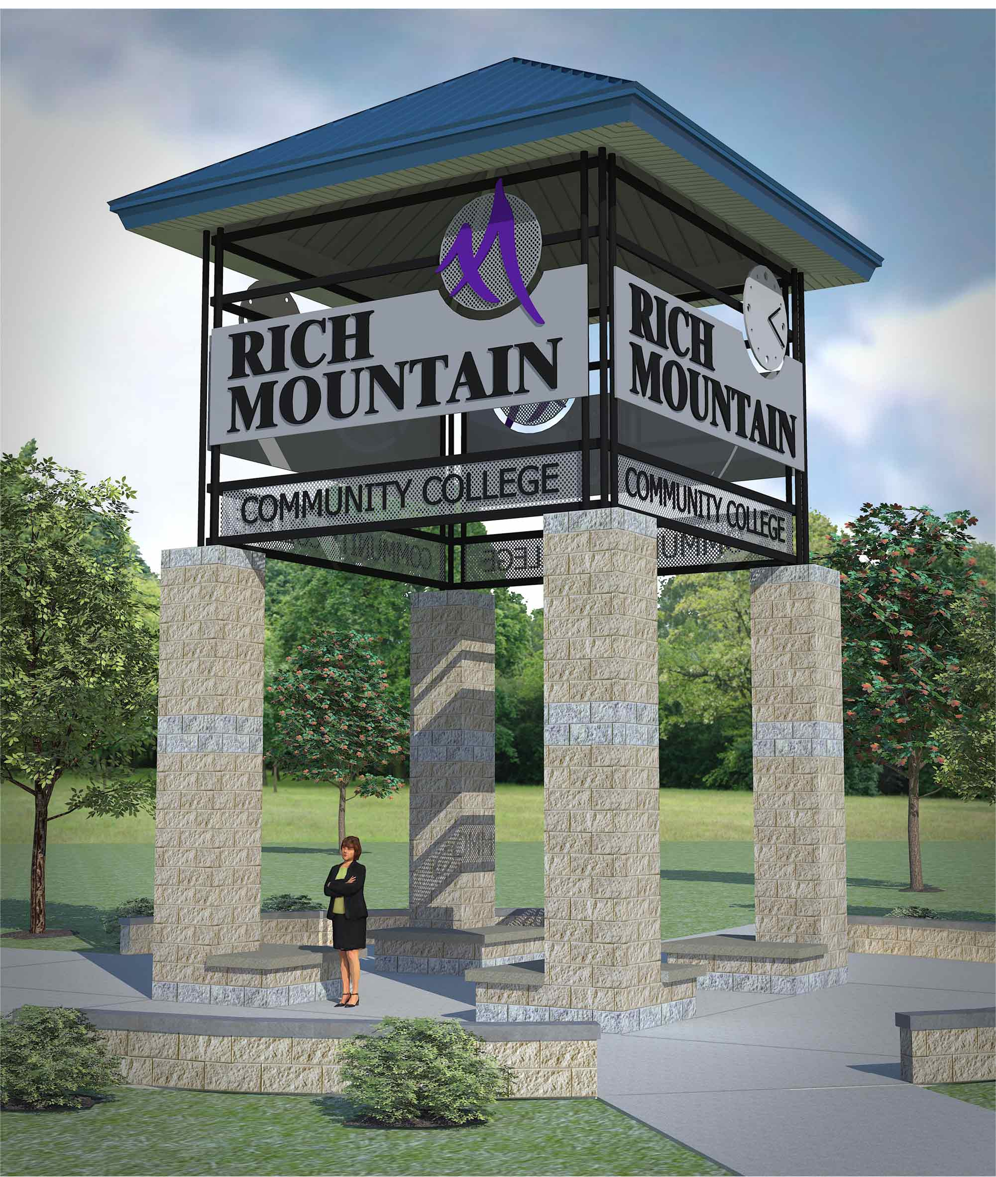 Serving as focal point between the Johnson Learning Commons and the new Ouachita Center, the clock tower will also receive an update with an updated logo and clocks.