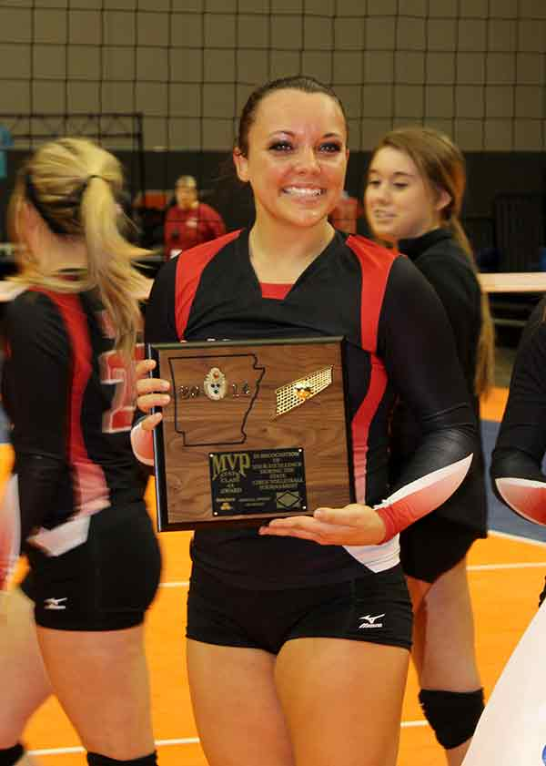 Junior Daryan Torix was named the MVP. She is the daughter of Shane and Teresa Torix. © PHOTO BY NORM BETZ   PULSE